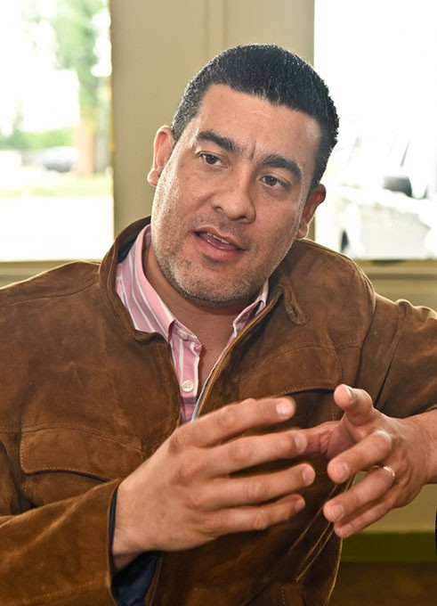 """Amazonia owner, Einar Perdomo, describes his take on """"Amazonia Latin Favor"""".  mh"""