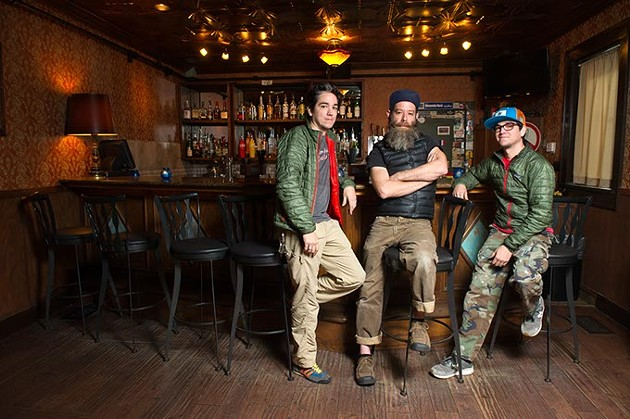 Greg Bustamante, Henri Bailey, and Michael Bustamante, new owners of the 51st St. Speakeasy, Monday, Feb. 22, 2016. - GARETT FISBECK