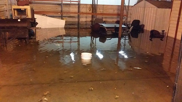 Pictures provided by the Oklahoma County Sheriff's Department show jail flooding in 2015.