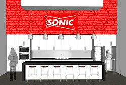 Rendering of the Sonic Culinary Innovation Center. - Rendering Provided