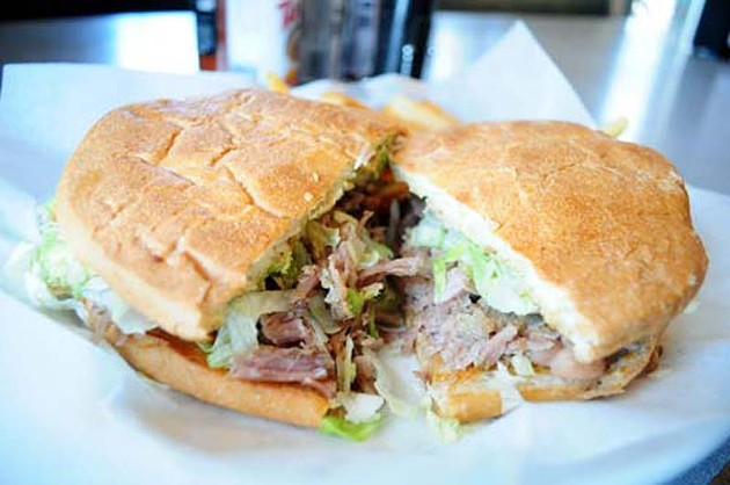 Carnita Torta at La Costa Restaurant. - Photos by Lauren Hamilton