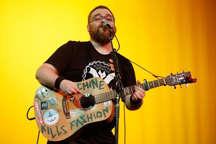 Acoustic Ross perfoms at the Sooner Theatre during Norman Music Festival, Thursday, April 23, 2015. (Garett Fisbeck)