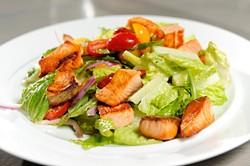 Salmon nugget salad at Viceroy Grill in Oklahoma City, Tuesday, Jan. 20, 2015. - GARETT FISBECK