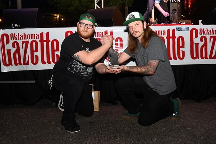 The Blue Note for Best Place for Karaoke during the Oklahoma Gazette Music Awards at Metro Music Fest, Friday, Apri 8, 2016. - GARETT FISBECK