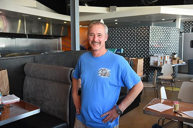 Marty Phillips inside what will become Gigglez Bar & Grill, formerly Saturn Grill at 1016 N. Walker.