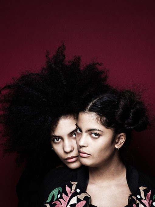"""French Cuban twins, Lisa-Kainde and Naomi Diaz, form the band Ibeyi """"ee-bey-ee"""" which means """"twins"""" in Yoruban."""