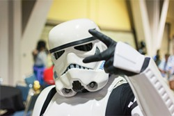 Long Beach CA - USA - September 12 2015: Star Wars Storm Trooper costume at The Long Beach Comic Con held at the Long Beach Convention Center. - BIGSTOCK
