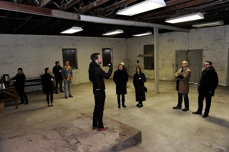 Jonathon Stranger talks about the site of a new restaraunt concept in Edmond, Friday, Jan. 22, 2016. - GARETT FISBECK