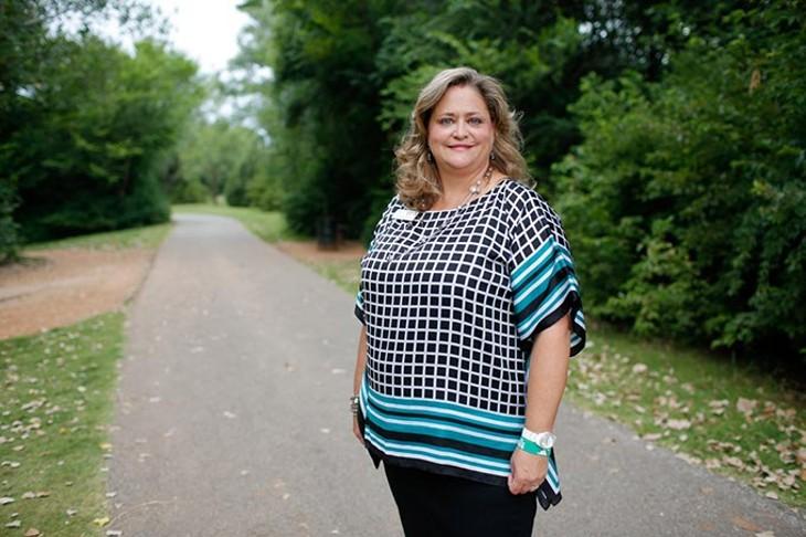 Sally Ray poses for a photo at Dolese Park in Oklahoma City, Monday, Aug. 3, 2015. - GARETT FISBECK