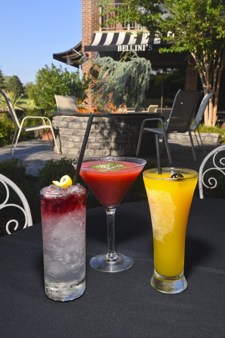 The Italian Fall Festival at Bellini's Ristorante will feature 3 of their favorite drinks, from left, the Park Ale Princess, the Basil Grande, and the Peach Bellini, 9-21-15. - MARK HANCOCK