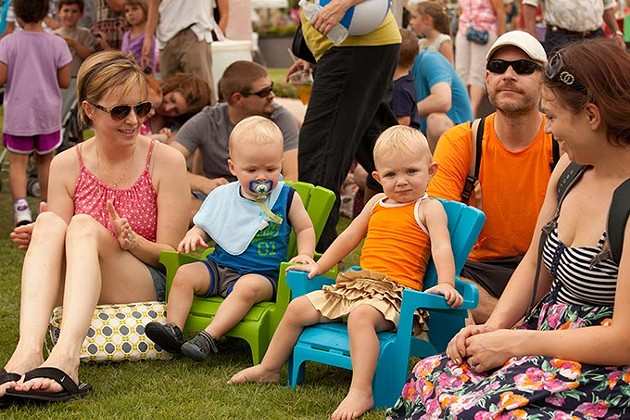 Kids wiggle and sit at last year's Wiggle Out Loud Festival, which is free for every one. - PROVIDED