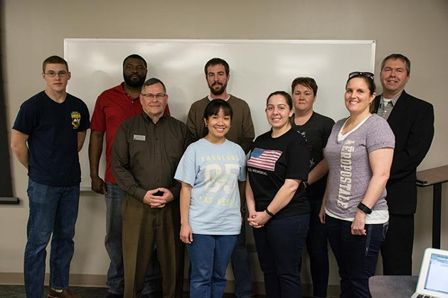 Student Veterans of America meeting at Oklahoma Christian in Edmond. - ABBY BELLOW