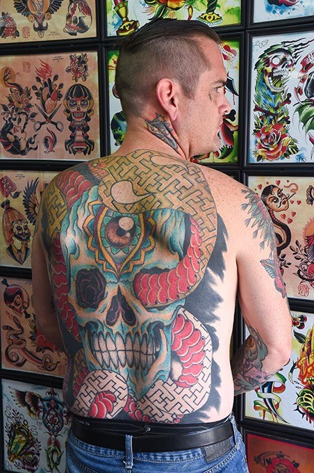 Artist Josh Crain knows a thing or two about regrettable tattoos from personal experience and his work as owner at Think Ink Tattoos. (Mark Hancock)