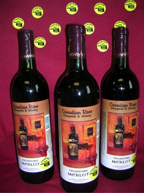 Canadian River Vineyards Oklahoma Merlot