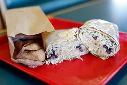 Cinnacrisps and chicken burrito at Burrito Grill in Blanchard, Okla., Thursday, June 25, 2015. - GARETT FISBECK