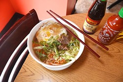 Bowl of Bulgogi ramen at B&B, Noodles and Moore, in Moore of course.  mh