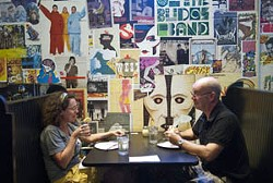 Heather Akard and John Switzer finish off a relaxing lunch at Empire Slice House. mh