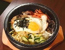 Dol-Sot Bibimbab (beef), at Dong-A Korean Restaurant in Moore, Oklahoma, 1-22-16.  (Mark Hancock0