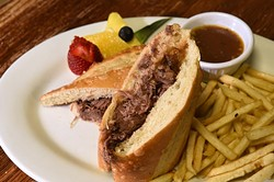 Pot roast sandwich with fries at Joey's Cafe, 12325 N. May Avenue in Oklahoma City, 1-13-16. - MARK HANCOCK