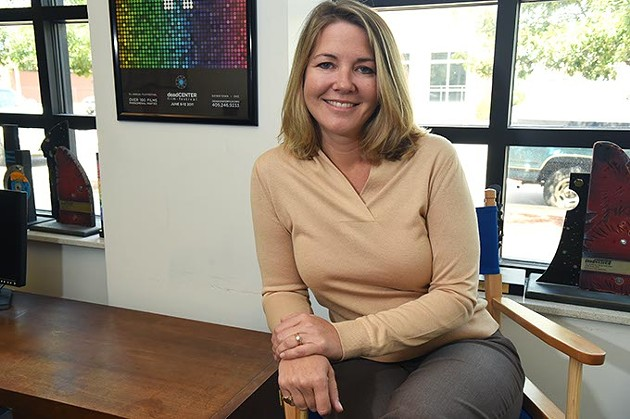 Lissa Gumerson-Blaschke, the new Executive Director for the deadCENTER Film Festival, photographed in their offices in the Hart Building on Film Row, 9-14-15. - MARK HANCOCK