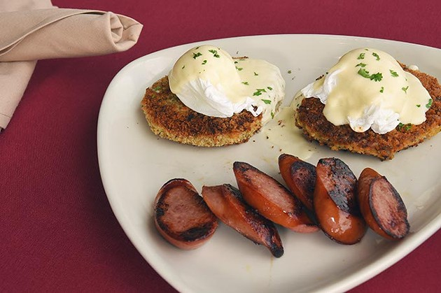 Bubble and Squeak at Silks restaurant for Sunday Brunch at Remington Park.  mh