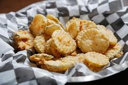 Fried pickles at the Cow Calf-Hay in Edmond, Thursday, Oct. 1, 2015. - GARETT FISBECK