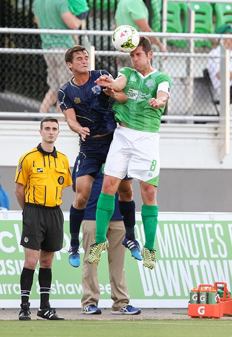 May 31, 2015: The OKC Energy FC plays the Austin Aztex in a USL game at Taft Stadium in Oklahoma City, Oklahoma. - STEVEN CHRISTY