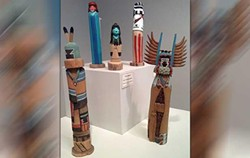 Kachina Dolls on display at the Red Earth Art Center (provided by Red Earth)
