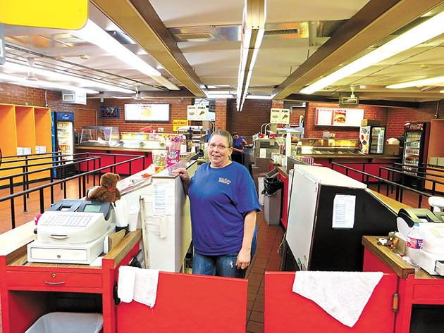 Pam Hudgins is the manager of Winchester's concession operation. (Brett Dickerson)