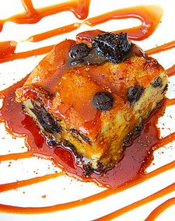 Bread pudding at Saturn Grill