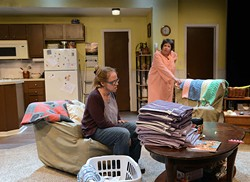 Kris Schinske is Jessie and Pam Dougherty is Mama in CityRep's production of 'night, Mother. (Mutz Photography / Provided)