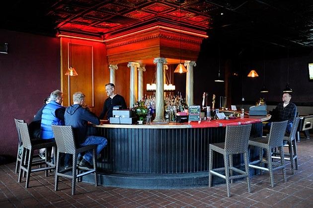 Bartender Philip Biggs makes drinks at Apothecary Thirty-Nine, formerly The Park. (Garett Fisbeck)