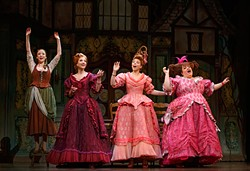 (L to R) Kaitlyn Davidson, Blair Ross, Kimberly Fauré and Aymee Garcia from the Rodgers + Hammerstein's Cinderella tour - CAROL ROSEGG / PROVIDED