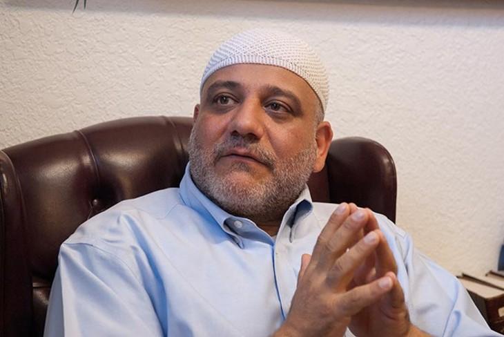 Imam Imad Enchassi discusses having Islamic faith in Oklahoma with the Oklahoma Gazette, at the Islamic Society of Greater Oklahoma City, Friday, 10-3-14.  mh