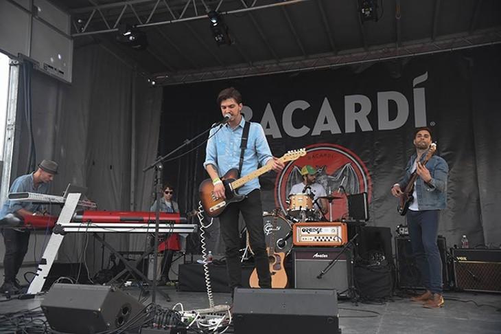 Chac Kervy Band on The Bacardi Stage. - MARK HANCOCK