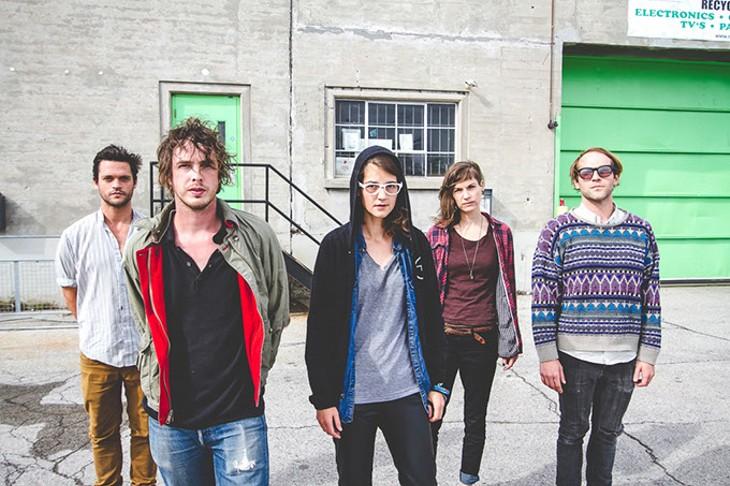 The members of Broncho: L-R: Nathan Price, Ryan Lindsey, Mandii Larsen, Penny Pitchlynn, Benjamin King