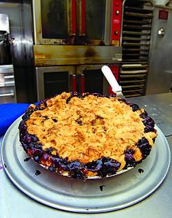 Three berry pie at ND's
