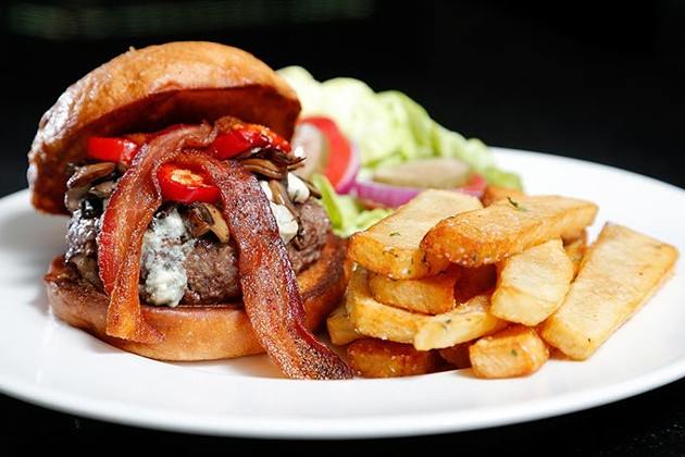 Blue cheese burger at The George Prime Steakhouse in Oklahoma City. (Garett Fisbeck)