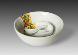 A porcelain bowl created by Xiaomiao Wang.