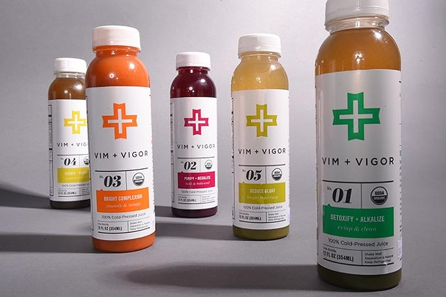 Vim + Vigor cleansing drinks.  mh