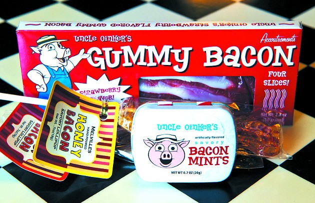 A selection of bacon-flavored goodies at Bricktown Candy Co. - Photo by Shannon Cornman - SHANNON CORNMAN