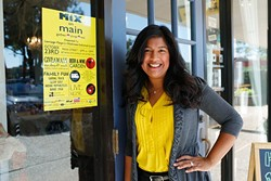 Vilona Michael, marketing director for Mix on Main, poses for a photo in Norman, Thursday, Oct. 15, 2015. - GARETT FISBECK