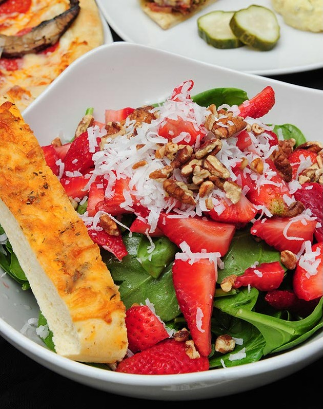 Sweet strawberry and spinach salad at Saturn Grill. (Shannon Cornman)