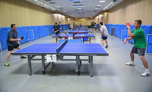 The OKC Table Tennis Club, locatied in Plaza Major at the Crossroads Mall.  mh