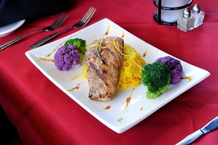 Chef Jason's Wild Salmon at Rococo in Oklahoma City, Jan. 26, 2015. - GARETT FISBECK