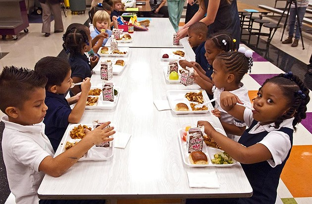 Students at Spencer Elementary eat lunch, which will be free for every student. - MARK HANCOCK