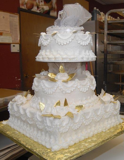 wedding cake at Brown's Bakery.  Mark Hancock