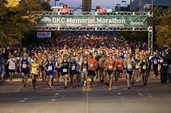 Runners take off from the starting line of the 2016 Oklahoma City Memorial Marathon. (Oklahoma City Memorial Marathon / provided / file)