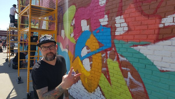 Graffiti artist and Plaza Walls co-curator Kris Kanaly will paint a mural directly on the Oklahoma Contemporary walls as part of the gallery's Not For Sale exhibit. (provided)
