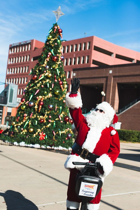Santa makes a special visit to help celebrate the Bricktown Tree Lighting Festival. This year's event is 5-7 p.m. Friday at 2 S. Mickey Mantle Drive. | Photo provided - QUIT NGUYEN